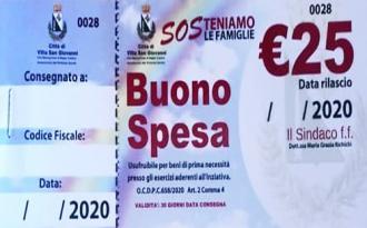 Buoni spesa - La graduatoria degli ammessi al beneficio nel Comune di Villa San Giovanni