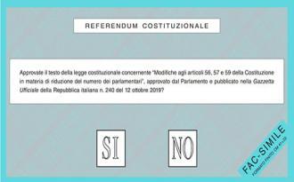 On line il facsimile della scheda per il referendum costituzionale