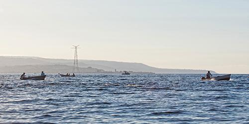 La pesca locale di aggancio